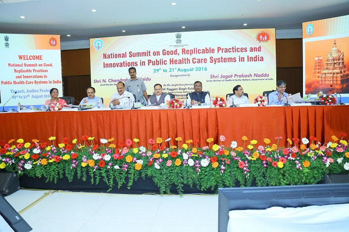 National Summit on Good Replicable Practices and innovations in Healthcare Systems on July 29 to 31 August 2016 at Tirupati  Andhra Pradesh